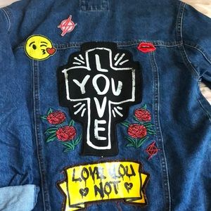 Forever 21 Jean Jacket with back detail
